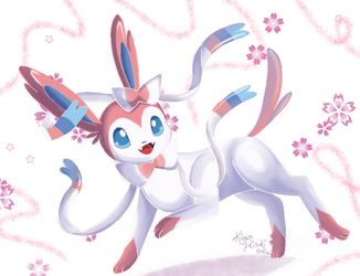 +::Sakura Sylveon::+ by kiraradaisuki