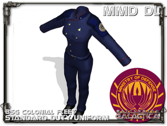 [MMD] Colonial fleet Duty Uniform FEMALE DL by Riveda1972