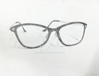 Intro to Drawing - Glasses sketch by WIERDisTotallyNORMAL
