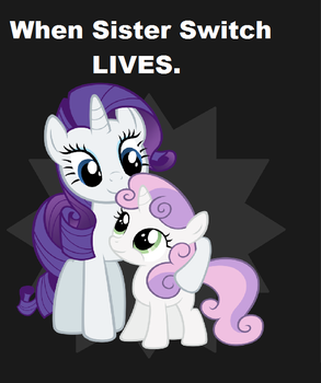 When Sisters Switch Lives Rarity and Sweetie Belle by Anggiemlplove