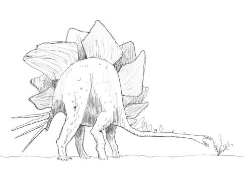 Ugly Stegosaurus by GaffaMondo