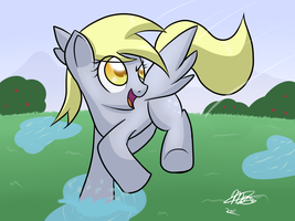 Derpy Hooves - Puddles by Mister-Markers