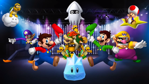 Dance Dance Revolution: Mario Mix Wallpaper by MidniteAndBeyond