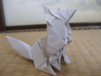 origami Fox by kumazaza