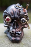 Steampunk Industrial Skull - Front by Devilish--Designs