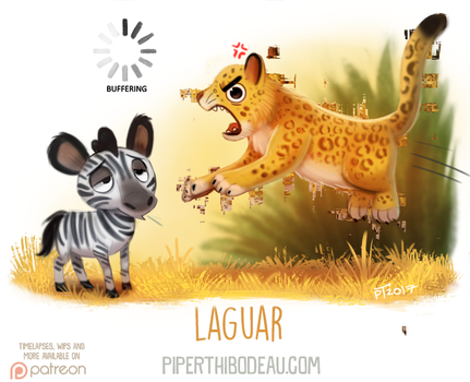 Daily Paint 1625. Laguar by Cryptid-Creations