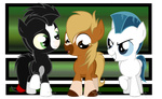 Khan, Philippe and Pegasus as three Little Ponies by Plumpig