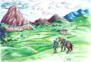 Over the plains of Hyrule by GraphiteFalcon