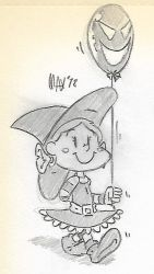 SKETCH - Spooky balloon by megawackymax