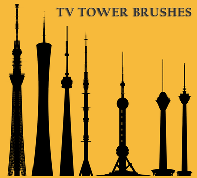 TV Tower Brushes by JosoXP