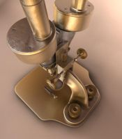 Old microscope 1 by 3Dapple