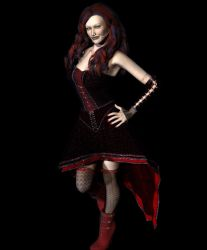 Selene's New Dress by GothicVampireFreak