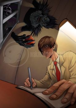 Death Note Fanart - Raito by estivador
