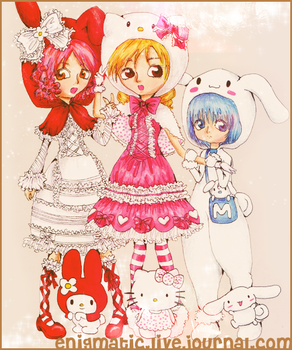 Hello Kitty and friends by lanini