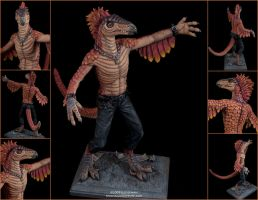 Punk Raptor by emilySculpts