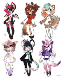 Adoptable Set 7 CLOSED by Snorechu