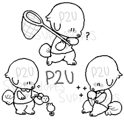 P2U: 3-in-1 Animal crossing pixel pups by Supi-adopts