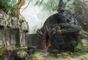Jungle setting study by AnDary