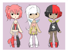 .:Adopts:. {1-3 CLOSED} by curled-mustache