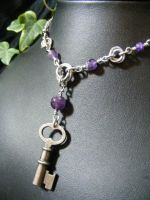 Amethyst Mobius Key Necklace by BacktoEarthCreations