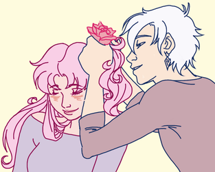 flowers for your hair by sammywhatammy
