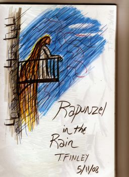 Rapunzel in the Rain by Angryviking
