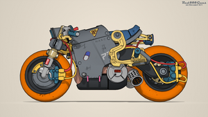 Cyberpunk bike by Red888guns