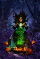 Halloween magic by CassiopeiaArt
