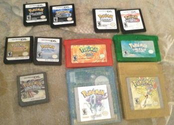 My Pokemon game collection by Latiosdude