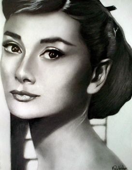 Audrey Hepburn by KirstyPartridgeART