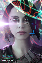 Molly Millions from Neuromancer by Aerozopher