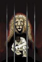 Caged Lion Cover by bookstoresue