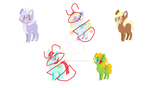Adoptables 10 points each by RainbowClicks
