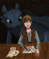 HTTYD: Hiccup and Toothless by Kurosaki59