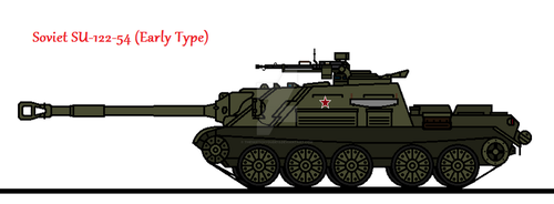 Soviet SU-122-54 (Early Type) by thesketchydude13