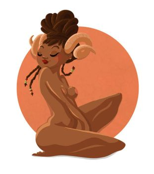 April Pin Up - Aries by GenevieveFT