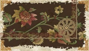 Flowery with Coppery Deco by kabegami