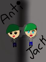 Anti And Jack Chibis by QuinnieTheMelon