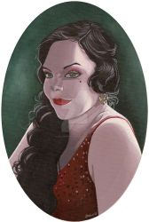 Anette Olzon retro style by HellbeeretH