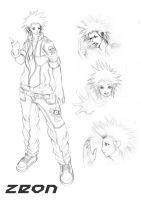 ZEON,sketch character design.. by chrisnfy85