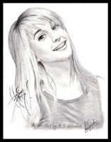 Signed Hayley Williams drawing by AJpr