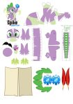 Spike Papercraft pattern by Kna