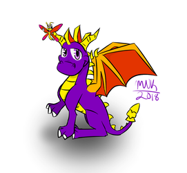 Spyro and Sparx by FlamingTeensyQueen