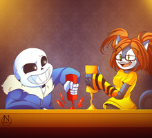 What if I meet Sans by N-SteiSha25