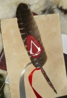 Feather of the Creed II - handpainted featherquill by Ganjamira