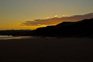 Sunset in beach by EvalCo