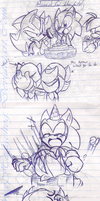 Happy 21 Sonic From:Shadow - Doodle by andreahedgehog
