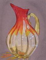Red Vase by Kozmalia