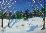 Snowman in  a Clearing 24 by Zorias