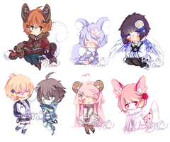 [AT] Cookie Chibis #1 by Elissya-chan